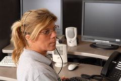 A Police dispatcher Stock Images