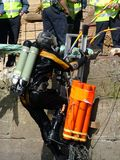 Police dive unit at incident, search and recovery. Of contraband, explosives weapons or drugs stock images