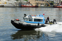 Police divers, Golden Horn, Istanbul Royalty Free Stock Photos