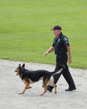 Police dog competition royalty free stock photography