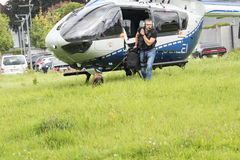 Police dog pick up the scent Stock Images