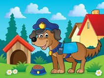 Police dog theme image 2 Stock Photography