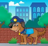 Police dog theme image 3 Royalty Free Stock Images