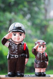 Police doll uniform Royalty Free Stock Photos