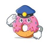 Police Donut character cartoon style. Vector illustration Stock Photo