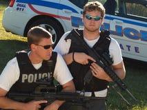 Police doublement armée Image libre de droits