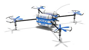 Police drone. Royalty Free Stock Images