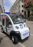 Police electric vehicle Royalty Free Stock Photo