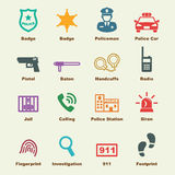 Police elements Royalty Free Stock Photos