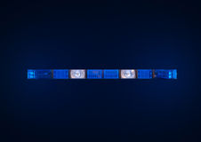 Police emergency lights Royalty Free Stock Image