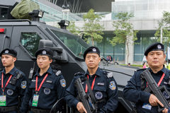Police en service Photo stock
