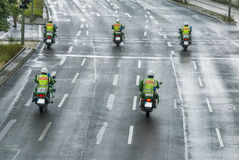 Police escort with motorbikes Stock Photography