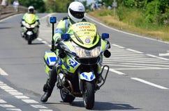 Police Escort Motorcyclist Stock Photos