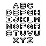 Police et alphabet d'ensemble Lettres d'alphabet de vecteur Images libres de droits