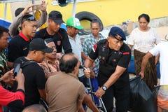 Police et humanité Image libre de droits