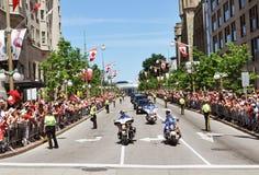 Police et RCMP en jour du Canada Image libre de droits