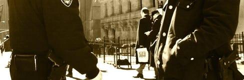 Police et Wall Street Image libre de droits