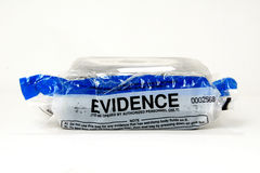 Police evidence bag stock photos