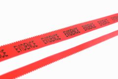 Police Evidence Tape. Isolated Police Evidence Tape Royalty Free Stock Photography