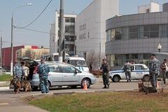 Police examination Stock Photo