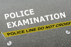 Police Examination concept royalty free illustration