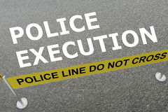 Police Execution concept Royalty Free Stock Images