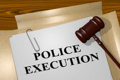 Police Execution - legal concept Royalty Free Stock Image