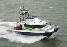 Police fast cat coastal patrol Stock Photos