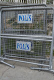 Police Fence in Istanbul, Turkey Stock Photography