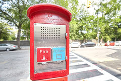 Police and Fire emergency call box. Stock Photos