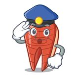 Police fish slice character cartoon. Vector illustration Stock Images