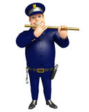 Police with  Flute Stock Photo