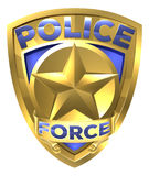 Police Force Gold Badge Royalty Free Stock Photo
