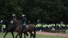 Police force horses stock video footage