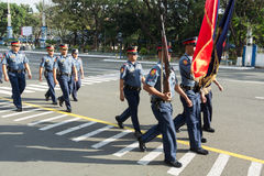 Police Force in Manila, Philippines Royalty Free Stock Photography