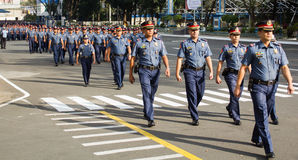 Police Force in Manila, Philippines Royalty Free Stock Photo