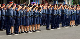 Police force recruitment, Manila, Philippines Royalty Free Stock Images