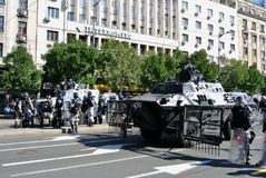 Police forces in the center of Belgrade Royalty Free Stock Photos