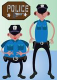 Police Best Friends. Police friends standing together waiting for orders Royalty Free Stock Photos