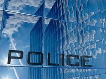Police. Front view of a police building royalty free illustration