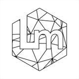Police géométrique de chaîne de bloc de triangle de LM