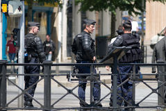Police gendarmerie in france Royalty Free Stock Photo