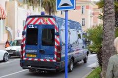 Police (gendarmerie) Van Images stock