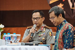 Police General Tito Karnavian. Police-General Tito Karnavian is the current Chief of Indonesian National Police. this photo was taken during Dialog Polri 8 Stock Images