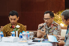 Police General Tito Karnavian. Police-General Tito Karnavian is the current Chief of Indonesian National Police. this photo was taken during Dialog Polri 8 Stock Image