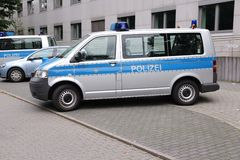 Police in Germany Royalty Free Stock Images