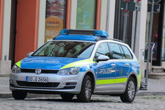 Police in Germany Stock Photo
