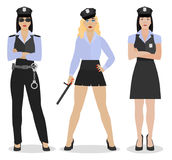 Police Girl Image Royalty Free Stock Photo
