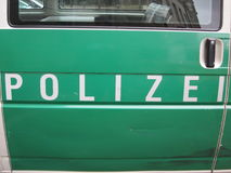 Police in green and white (Polizei) Germany Royalty Free Stock Photos