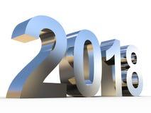 police grise brillante en métal de l'année 2018 argentée Photo stock